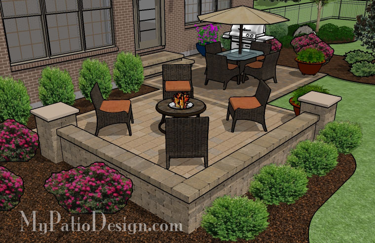 Pre priced patio designs dayton schneider 39 s landscaping for Garden patio area ideas