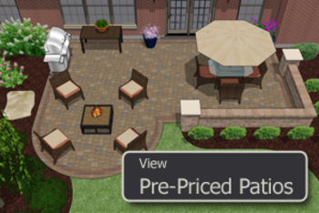 pre designed pre priced paver patio designs dayton and cincinnati - Paver Patio Design Ideas